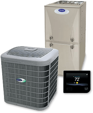 Carrier furnace air conditioner climate control